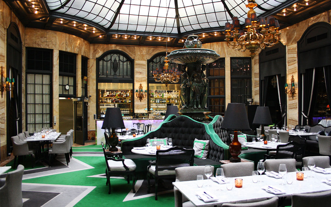 Palmen restaurant rayon design for Designhotel oslo